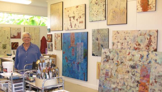 Toni in her home studio.